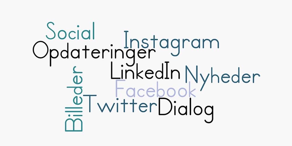 Vi hjælper med tekst og nyheder til sociale medier, Content Communications