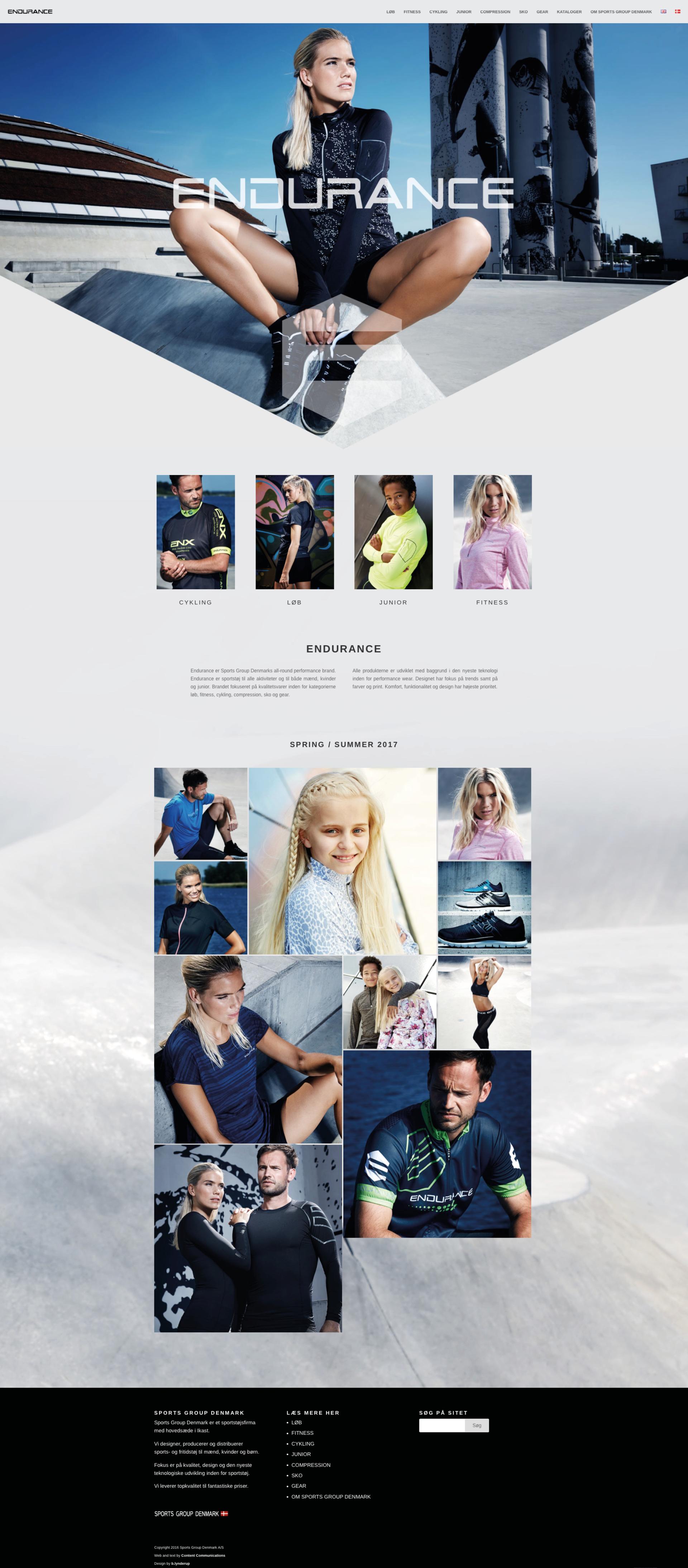 Hjemmeside Endurance